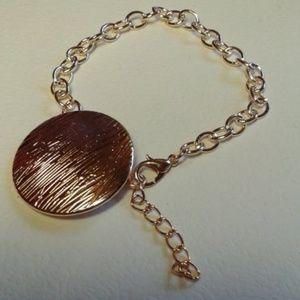 Rose Gold Disc Bracelet